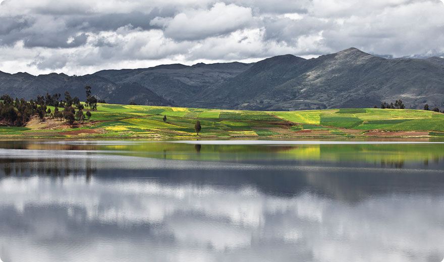 Lake on the Highland of Chinchero, Cusco
