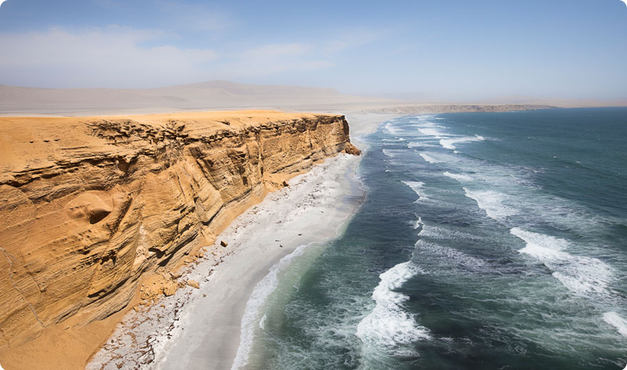 Coast in the Natural Reserve of Paracas